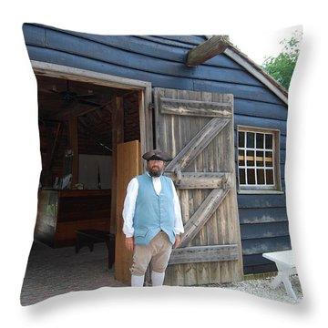 Welcome Throw Pillow by Eric Liller