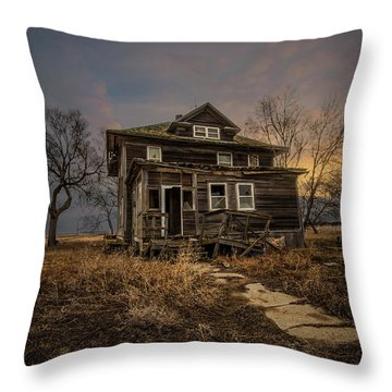 Throw Pillow featuring the photograph Welcome Home by Aaron J Groen