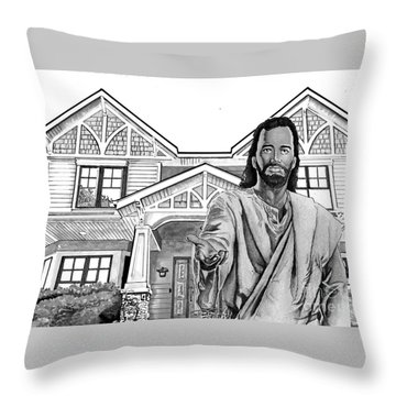 Welcome Home Throw Pillow by Bill Richards