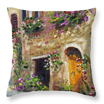 Throw Pillow featuring the painting Welcome Home by Jennifer Beaudet