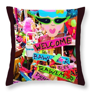 Welcome Hon Throw Pillow by Debbi Granruth
