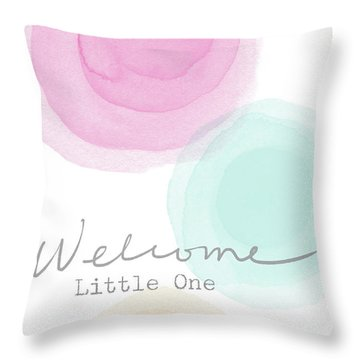 Welcome Little One- Art By Linda Woods Throw Pillow