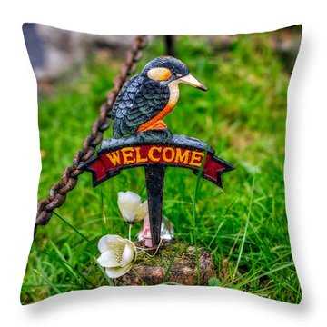 Welcome Sign Throw Pillow