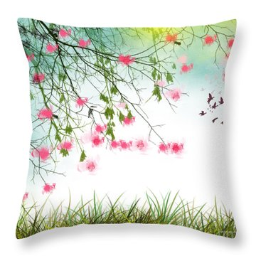 Welcome Spring 2016 Throw Pillow