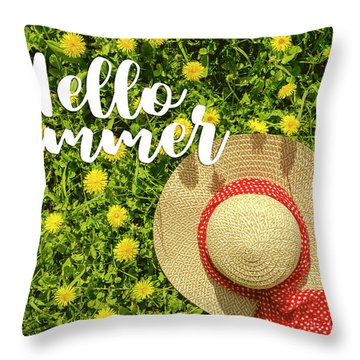 Throw Pillow featuring the photograph Welcome Summer by Teri Virbickis