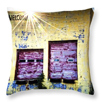 Welcome Throw Pillow by Tamyra Ayles