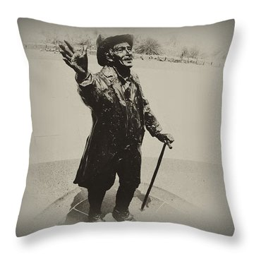 Welcome To America  Throw Pillow by Bill Cannon