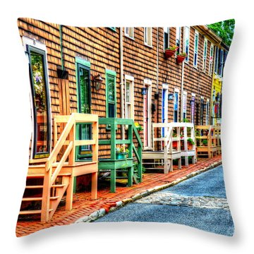 Welcome To Annapolis Throw Pillow by Debbi Granruth