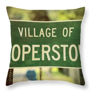 Welcome To Cooperstown Throw Pillow