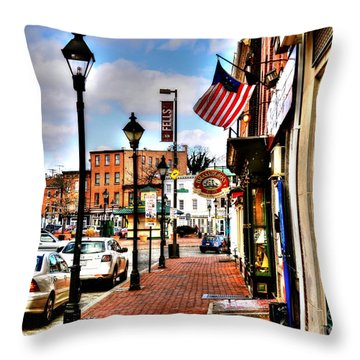 Welcome To Fells Point Throw Pillow