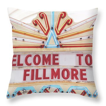 Welcome To Fillmore- Photography By Linda Woods Throw Pillow