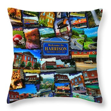 Welcome To Harrison Arkansas Throw Pillow