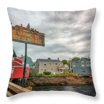 Throw Pillow featuring the photograph Welcome To Kennebunkport by Rick Berk