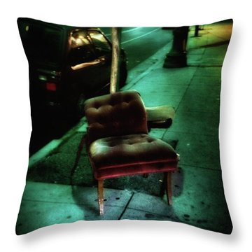 Throw Pillow featuring the photograph Welcome To My Living Room, Pull Up A by Mr Photojimsf