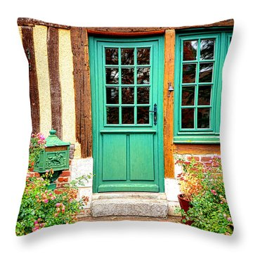 Welcome To Normandy Throw Pillow