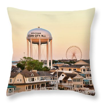 Welcome To Ocean City, Nj Throw Pillow