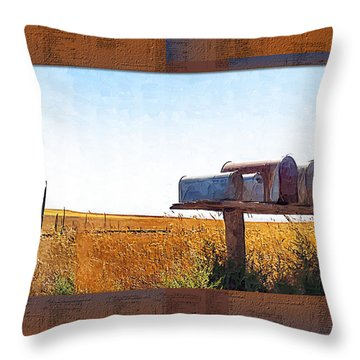 Throw Pillow featuring the photograph Welcome To Portage Population-6 by Susan Kinney