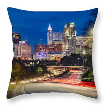 Welcome To Raleigh Throw Pillow