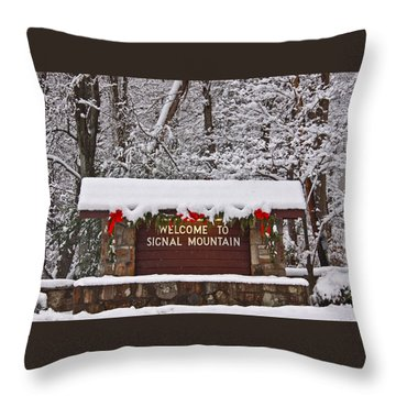 Welcome To Signal Mountain Throw Pillow