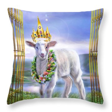 Welcome To The Kingdom Throw Pillow by Reggie Duffie