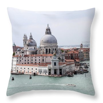 Welcome To Venice Throw Pillow by Allan Levin