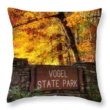 Welcome To Vogel State Park Throw Pillow