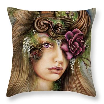 Welcome To Wisteria  Throw Pillow by Sheena Pike