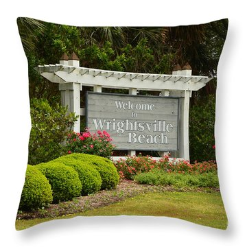 Welcome To Wrightsville Beach Nc Throw Pillow