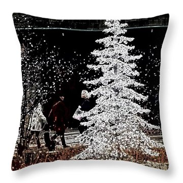 Welcome Winter Throw Pillow