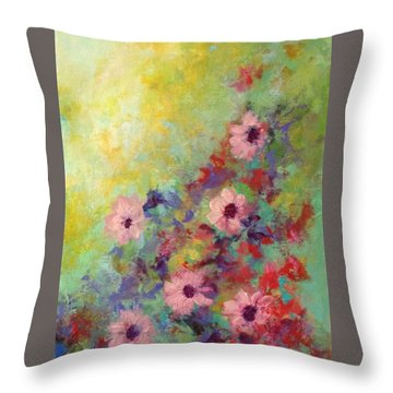 Welcoming Spring Throw Pillow by Suzzanna Frank