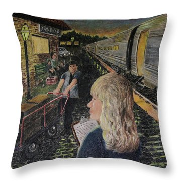 Welcoming The Guests Throw Pillow