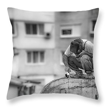 Welding Throw Pillow