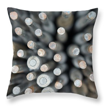 Welding Rods Throw Pillow by Ernie Echols