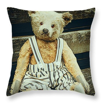Well Advanced In Years Throw Pillow by Jutta Maria Pusl