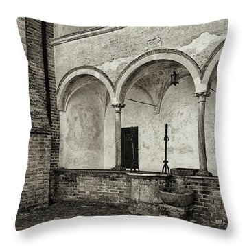 Well And Arcade Throw Pillow