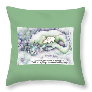 Well Documented Fpi Editorial Cartoon Throw Pillow by Dawn Sperry