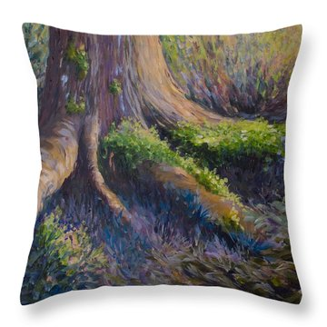 Well Grounded Throw Pillow by Joanne Smoley