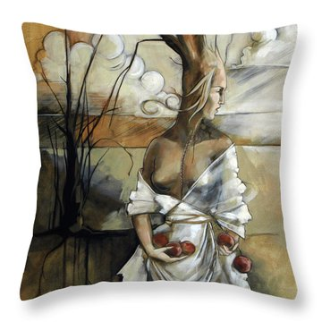 Well Suited Tree Woman Throw Pillow