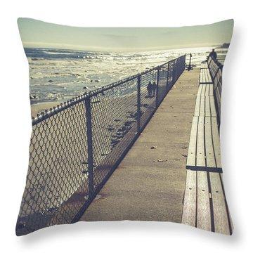 Throw Pillow featuring the photograph Wells Beach Maine by Edward Fielding