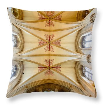 Wells Cathedral Ceiling Throw Pillow