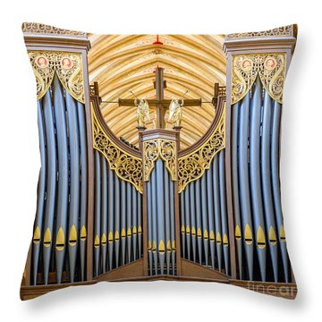 Wells Cathedral Organ Throw Pillow