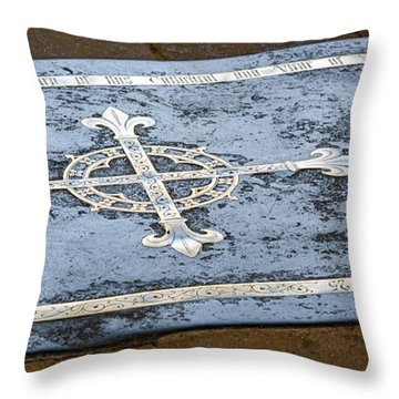 Throw Pillow featuring the photograph Wells Cathedral Tomb by Colin Rayner