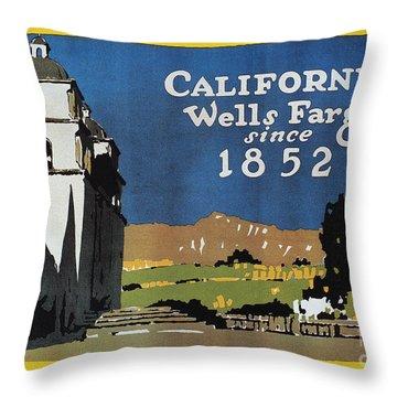 Wells Fargo Banner, 1917 Throw Pillow by Granger