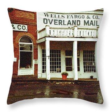 Wells Fargo Ghost Station Throw Pillow