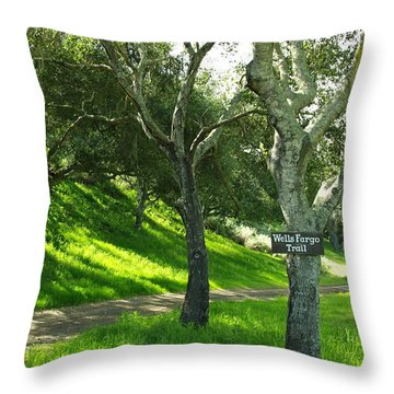 Wells Fargo Trail Throw Pillow