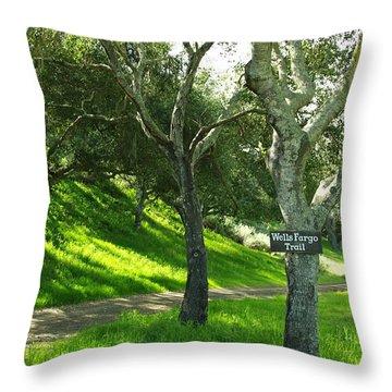 Wells Fargo Trail Throw Pillow by Jeff Lowe