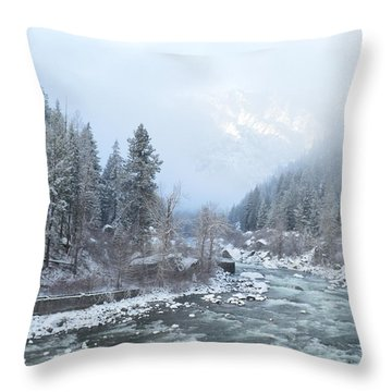 Wenatchee River Throw Pillow