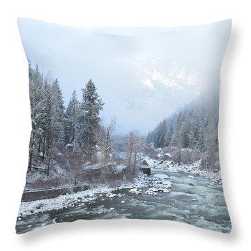 Wenatchee River Throw Pillow