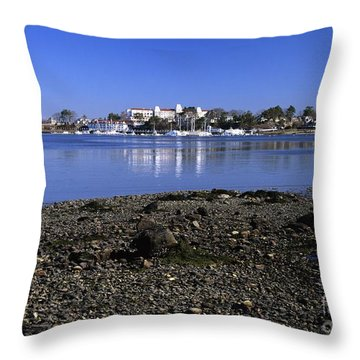 Wentworth By The Sea Hotel - New Castle New Hampshire Usa Throw Pillow by Erin Paul Donovan