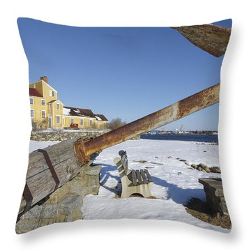 Wentworth Coolidge Mansion - Portsmouth New Hampshire Throw Pillow